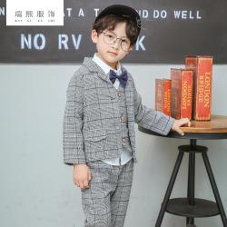 2018童装西装礼服四件套男童套装 儿童英伦西装男童长袖 一件代发