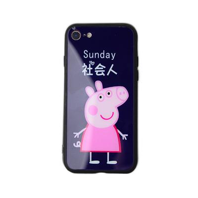 小猪佩奇玻璃手机壳 003