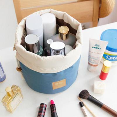 旅行 韩版 圆筒 大容量 防水 化妆包 化妆品 洗漱包 bag076