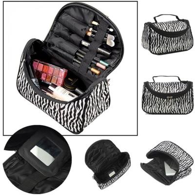 时尚 女士 尼龙 化妆包 斑马条纹 元宝 bag081