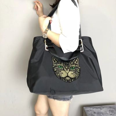 优品 运动拎包女手提韩版短途行李包袋大容量轻便收纳可折叠单肩旅行包