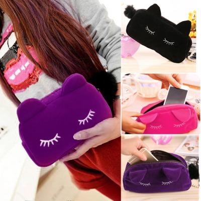 可爱 猫咪 化妆包 收纳包 零钱包 韩版 旅行 收纳包 手拿包 bag078