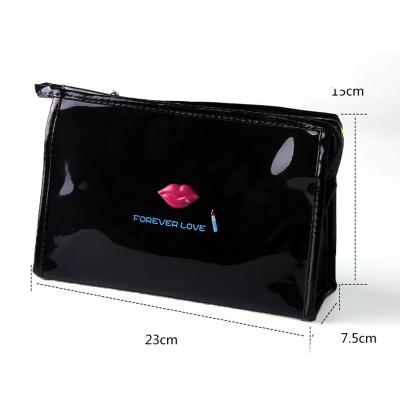 韩版 大容量 亮面 镜面 化妆包 旅行 女士 皮革 收纳包 bag094