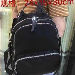 优品  布配真皮大容量双肩包 D003