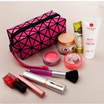 光胶 化妆包 大容量 菱格 手提 四方包 收纳包 hzb005