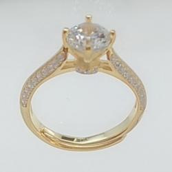 亿钻珠宝 925纯银女戒 RD0003