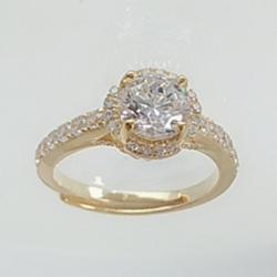 亿钻珠宝 925纯银女戒 RD0006