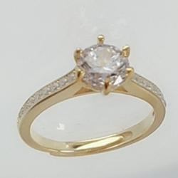 亿钻珠宝 925纯银女戒 RD0007