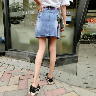 1011 女装无弹短裙