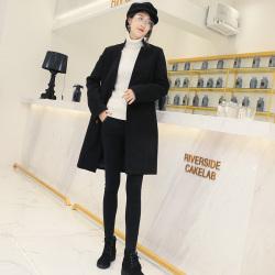 琦豪服饰 黑色呢料外套 LW201806