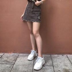 东琪 时尚潮流老爹鞋酷炫百搭松糕厚底运动休闲小白鞋女鞋 116-2