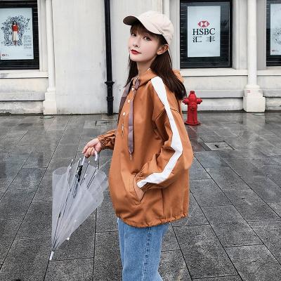 2018秋冬新款韩版工装风休闲宽松BF学生连帽外套 F5185