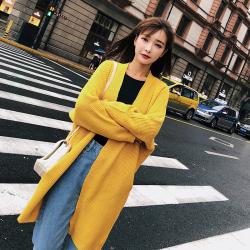 2018秋冬装韩版宽松毛衣外套外搭针织衫开衫  F5192