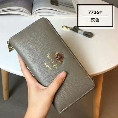 华芳 女士新款手拿包钱包7736