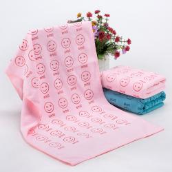 超细纤维笑脸毛巾
