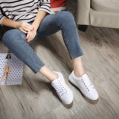 小白鞋女真皮休闲鞋板鞋修脚显瘦 1801