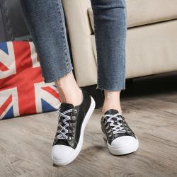 字母带休闲鞋真皮板鞋修脚显瘦 1802