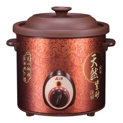 三源天然矿土紫砂快速汤锅(机械)1.5L容量 煲汤 旋钮式操作 TGJ15-SA1