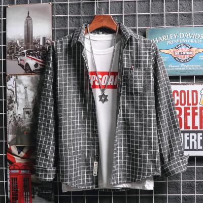 2018年 秋冬新款牛仔衬衫男长袖秋季韩版修身薄衬衣帅气潮流休闲外套 C6004