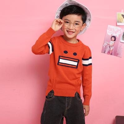 爱康童装 电脑机绣机器人脸型圆领套头男童 1188