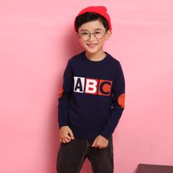 爱康童装 电脑机绣ABC圆领套头男童 1256