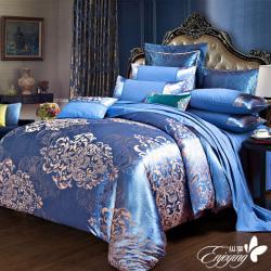 床上用品大提花贡缎高支高密活性精梳全棉 被单 床单 双枕套