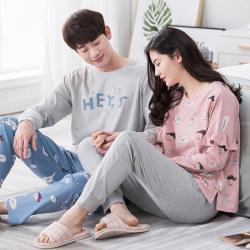 【情侣款】鹏展佳 2018年新款秋季时尚情侣睡衣家居服 6831