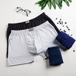 男内裤纯棉加大码四角胖子码平角裤