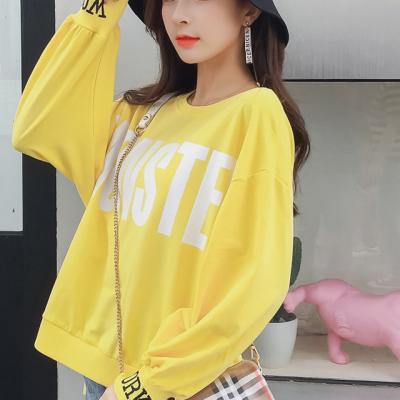 歌诺瑞丝 2018年秋款韩版慵懒风衣卫衣女薄款长袖宽松上衣 NR 2F A67-C-5550