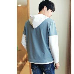 秋季新款男式连帽卫衣休闲假两件长袖T恤韩版卫衣 910