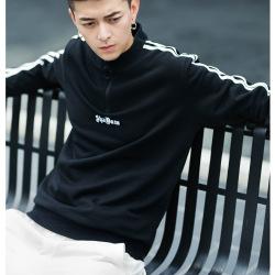 青年嘻哈街头时尚潮牌刺绣套头衫修身长袖卫衣男 WY734191 WY734267