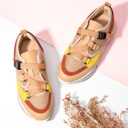 氧气时代 拼色运动鞋女秋冬新款潮流休闲鞋街头潮鞋 YD1801