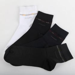 路易馬車時尚精梳棉男襪 L786