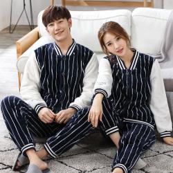 【情侣款】鹏展佳 2018年新款秋季时尚情侣睡衣家居服 99009