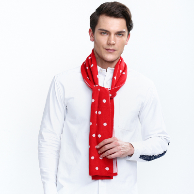 KBB 圆点针织保暖围巾 K14-S04