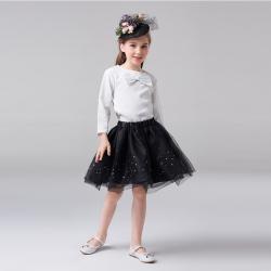 学院风礼服套装(短裙)黑色T0193