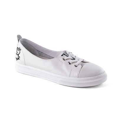 休闲鞋女 黑色 米白