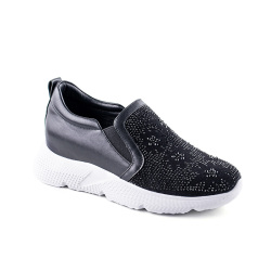 休闲鞋女黑色/卡其色