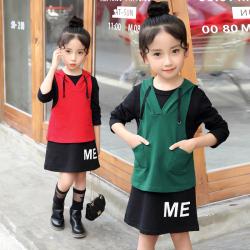 时尚女童韩版套装