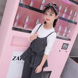 时尚女童吊带连衣裙套装