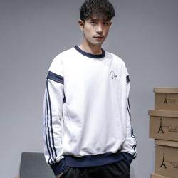 昊社 2018年新款秋季卫衣男韩版潮流宽松拼色男士长袖加绒卫衣  7093
