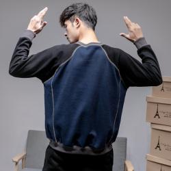 昊社 最新时尚男士拼色卫衣 9394
