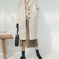 【直播活动款】秋冬季新款西装领仿毛呢外套女中长款宽松呢子大衣