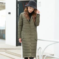 尚华云鹤 新款韩版时尚潮流款冬装女装羽绒服中长装款 A1809006-427
