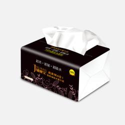 【3小包9.2包邮】婕丽宝 竹炭系列超柔韧4合1抽纸餐巾纸抽家庭装