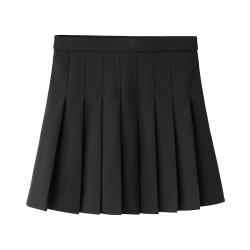 爱衣宣言 2019年春夏新款复古显瘦弹力松紧腰百褶裙 DQTL1808