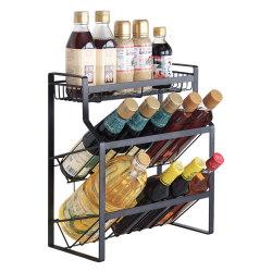 炊大皇 廚房收納架 調料架子廚房置物架 廚房家用三層調味架 TL01Y