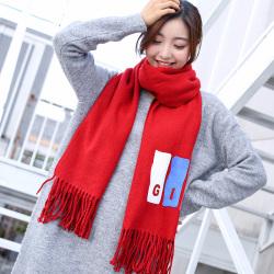 新款韩版百搭围巾女秋冬季学生软妹加厚仿羊绒保暖围脖披肩两用WJF22F03