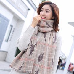 圍巾女冬季韓版百搭長款加厚吉祥麥穗披肩兩用保暖仿羊絨學生時尚WJF22F10