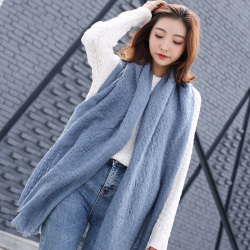 圍巾女冬季披肩英倫時尚韓版仿羊毛長款圍巾圍脖WJF22F13